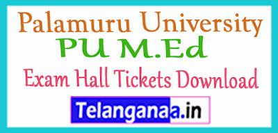 Palamuru University PU M.Ed Exam Hall Tickets Download