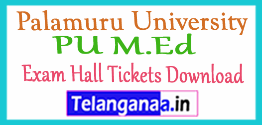 Palamuru University PU M.Ed Exam Hall Tickets Download