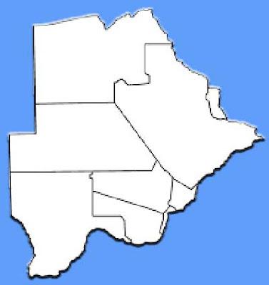 image: Botswana Map blank white