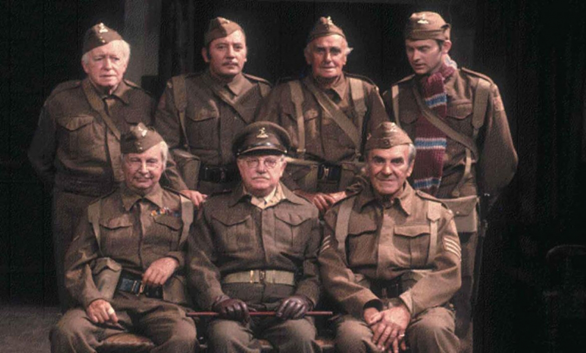 A group photo of the cast of Dad's Army