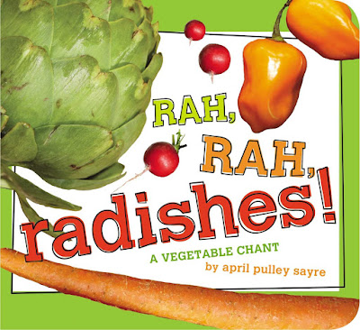 Rah, Rah, Radishes! part of children's book review list about healthy eating