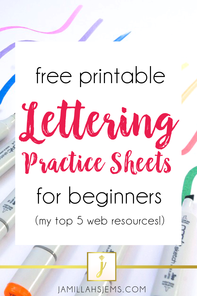 picture about Brush Lettering Practice Sheets Printable titled Jamillahs Jems: Free of charge Printable Lettering Train Sheets
