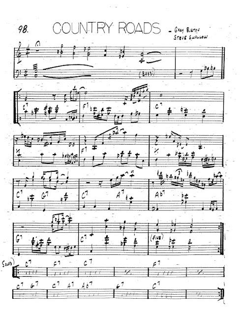 Partitura Trompeta Gary Burton and Steve Swallow