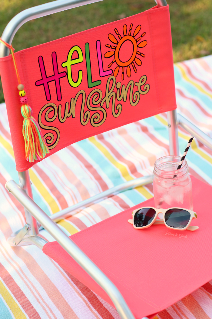 DIY Personalized Colorful Beach Chair