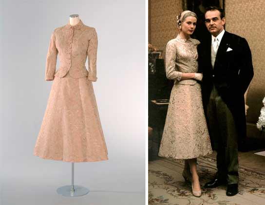 Grace Kelly, casamento civil vestido rosa