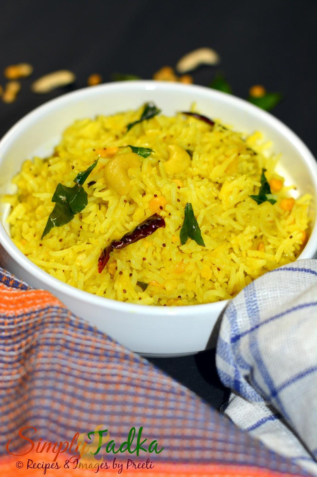Green Mango Rice | Mamidikaya Pulihora | Andhra Cuisine ...