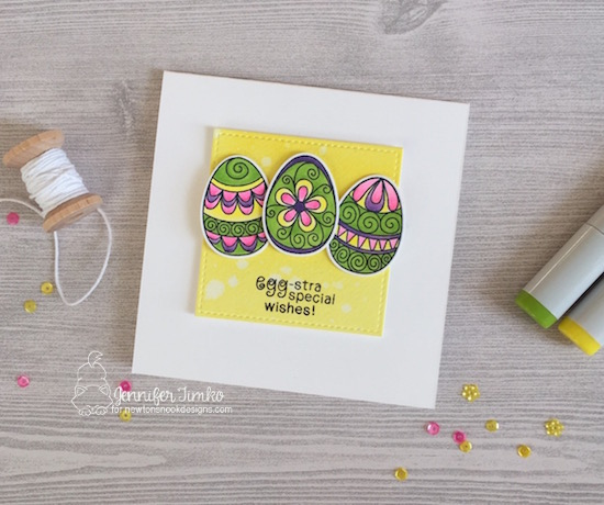 Easter egg card by Jennifer Timko | Beautiful Spring Stamp Set by Newton's Nook Designs