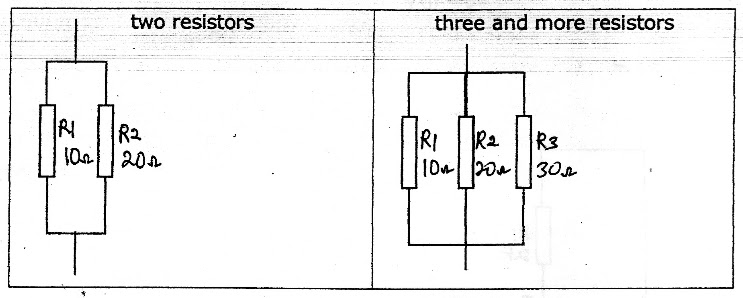 parallel circuit formula for resistance