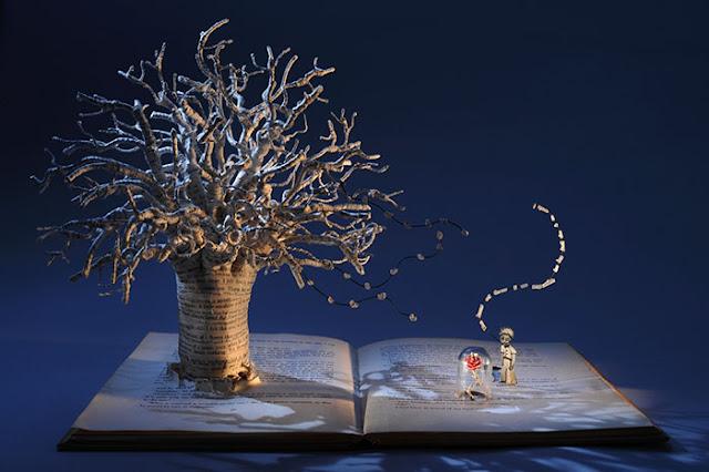 立体的で幻想的な本。本の世界が飛び出す!?10枚 星の王子様とローズ