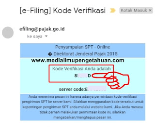 Copy kode verifikasi