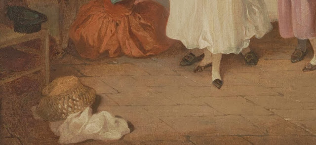 detail of The Mistletoe Bough Painting