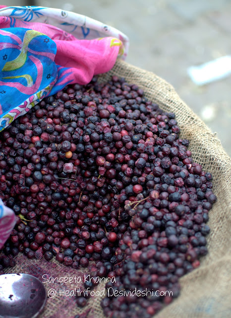 phalsa or falsa (Grewia asiatica), the deep purple summer stone fruit | recipe of phalse ka sharbat