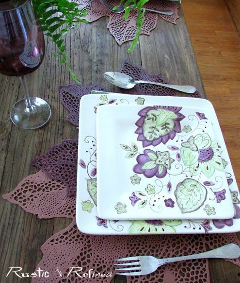 Colorful tablescape for casual dining