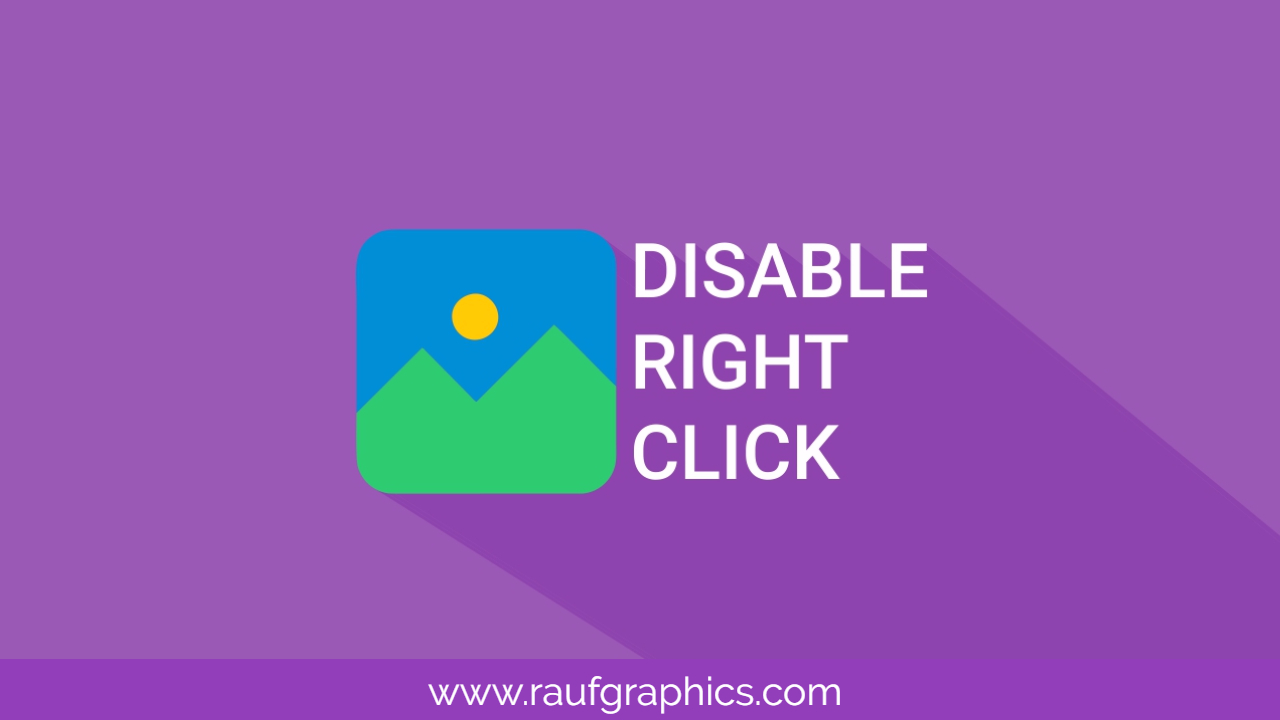 How to Disable Right Click on website or blog