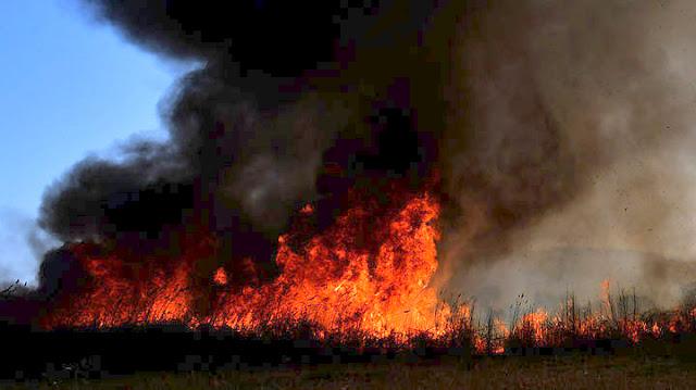 Αγωνία για την Ζάκυνθο - Μεγάλη πυρκαγιά στον Κάλαμο