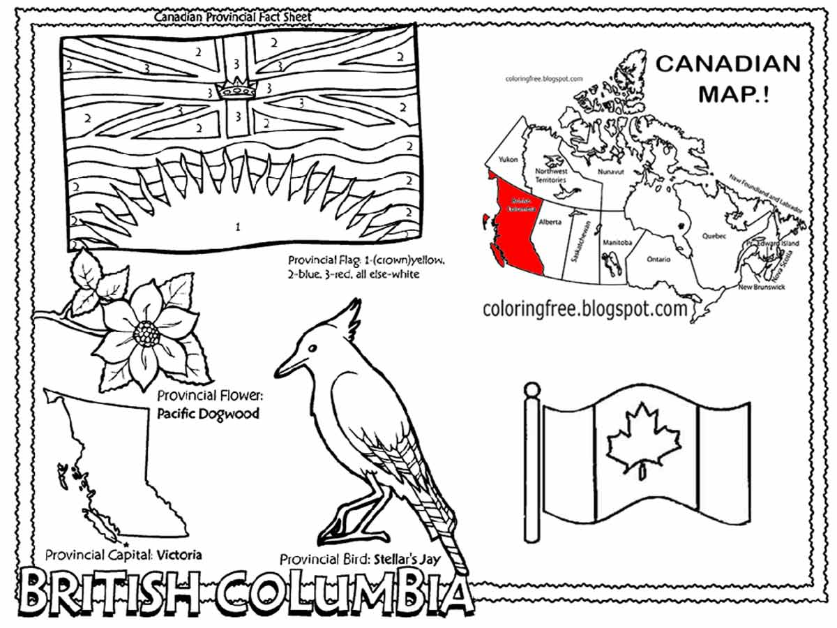 Canada Coloring Page - GetColoringPages.com | 900x1200