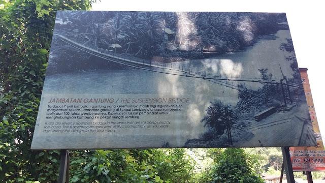 Jambatan Gantung Kolong Pahat @ Sungai Lembing
