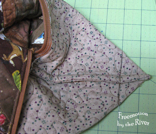 French seams inside pouch