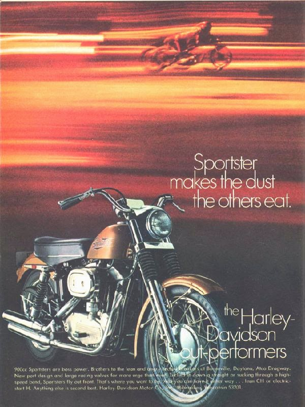 Harley Davidson Advertising: Harley-Davidson Advertisements On Magazines From 1970s