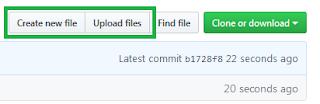 Create new file or Upload files - Github