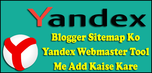 how to submit blog sitemap to yandex webmaster tool