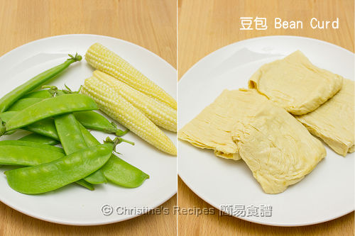 燜豆包材料 Braised Bean Curd Ingredients