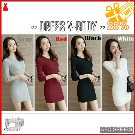 AFO339 Model Fashion Dress V Body Modis Murah BMGShop