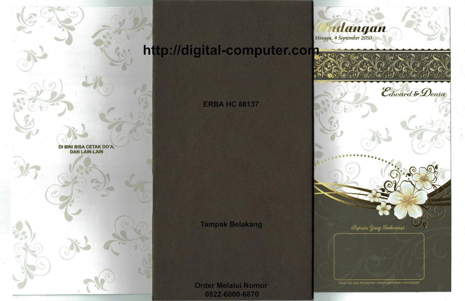 undangan hardcover ERBA HC-88137