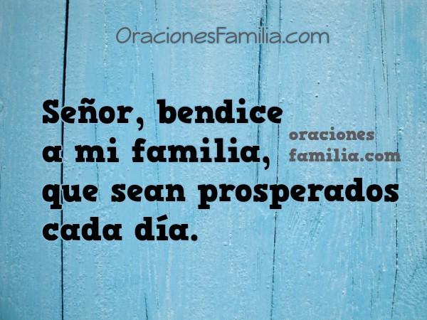 Oración corta por mi familia, frases con oraciones, plegaria por mis hijos, blog con oración de familia por Mery Bracho