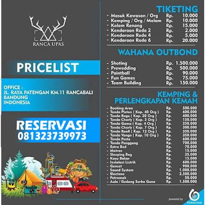 Kampung Cai Ranca Upas Bandung West Java Indonesia, tiket masuk, alamat - KampungCai.Com