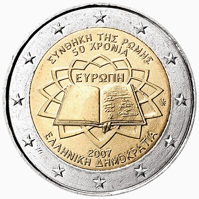 2 euro coins Greece 2007, Treaty of Rome
