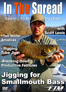 jigging smallmouth bass in the spread scott lewis