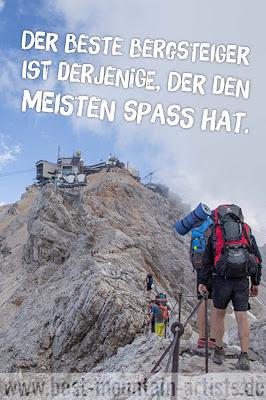 """""""Der beste Bergsteiger ist derjenige, der den meisten Spaß hat."""", Alex Lowe"""