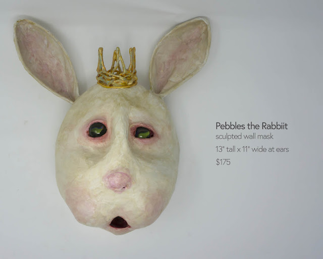 rabbit mask sculpture