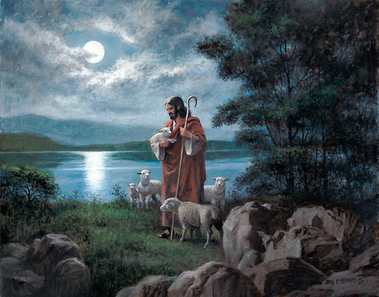 Christians specifically interpret the Lord to be Jesus, who frequently portrayed himself as the Good Shepherd in the New Testament.