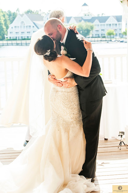 Disney World photography wedding kiss