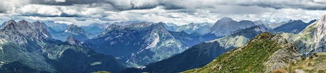moutnainbike panorama monte crostis mtb