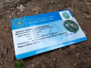 Natural Giok Jadeite Jade Type A JDT010 Cobochon Origin Burma 17cts