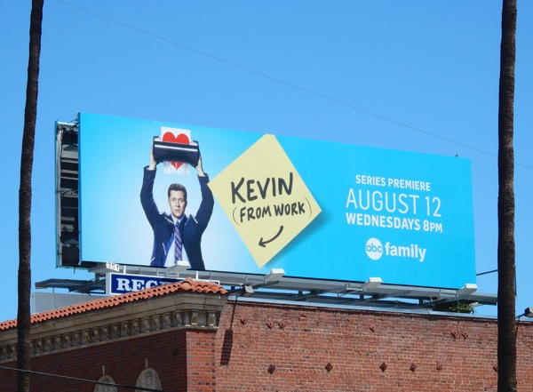 Kevin from Work series premiere billboard