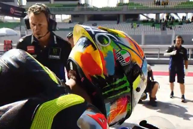 Design Helm Valentino Rossi Terbaru Test Pra Musim 2019