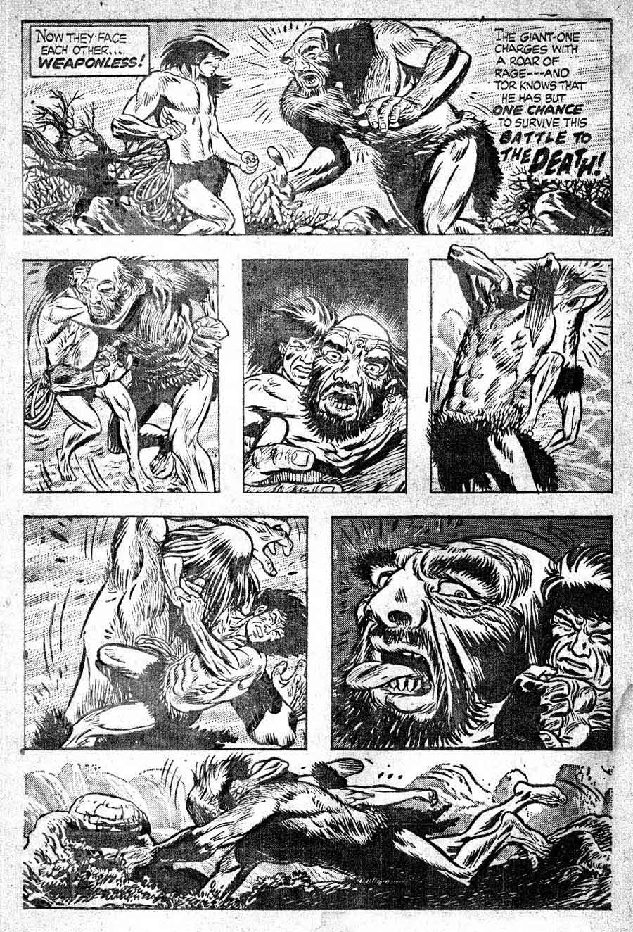 Tor v1 #2B st john golden age comic book page art by Joe Kubert