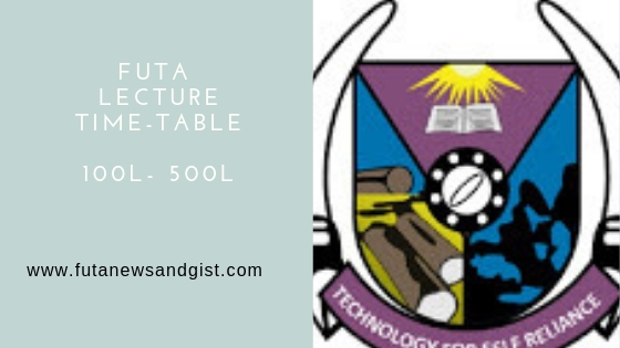 futa lecture time table