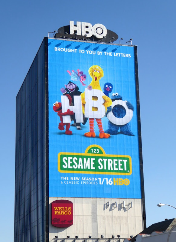 Giant Sesame Street HBO season 46 billboard