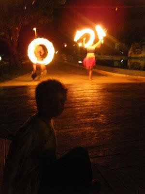 Fiji fire dancers