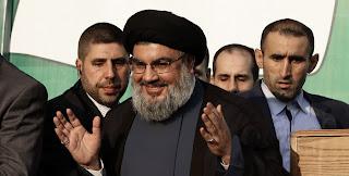 Hassan Nasrallah Hezbollah Chief Palm Image