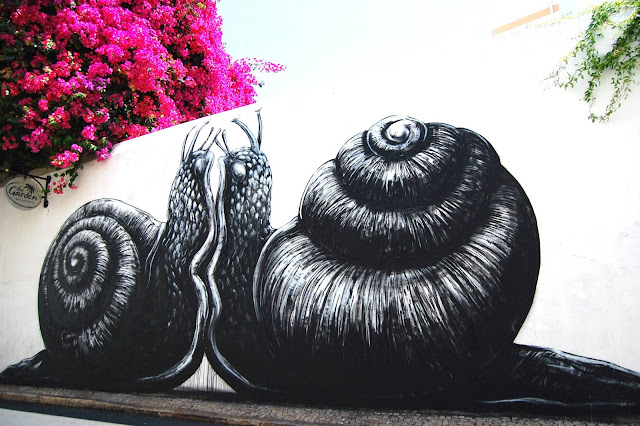 Street Art By ROA In Portugal - Snails
