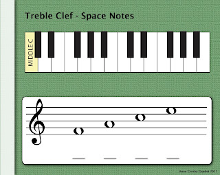 PianoAnne Treble Clef Space Notes