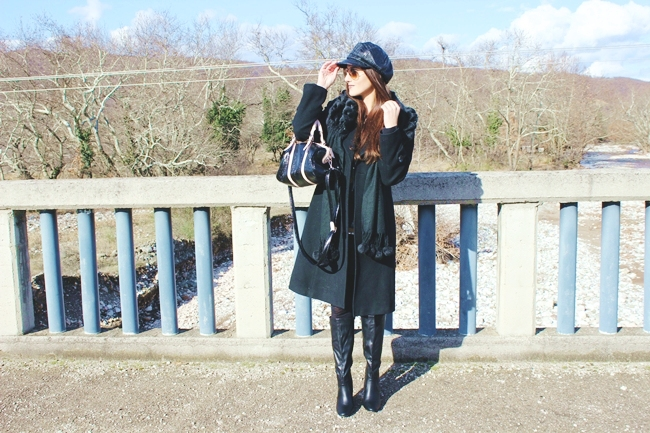 All black fall and winter looks and outfits