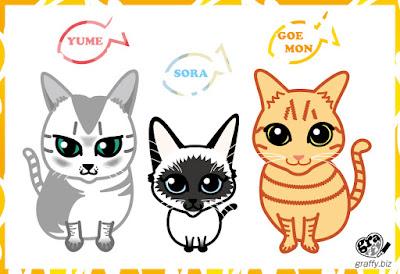 Caricature cat 猫
