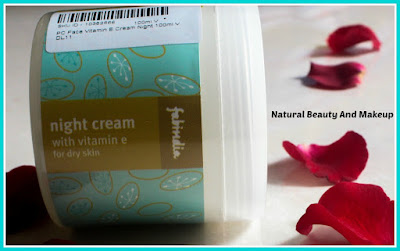 Fabindia Vitamin E Night Cream |Review, Price & Other Details on Natural Beauty And Makeup